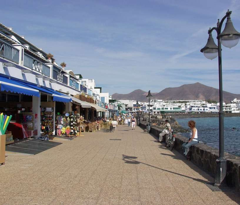 Holiday Resort of Playa Blanca seafront promenade