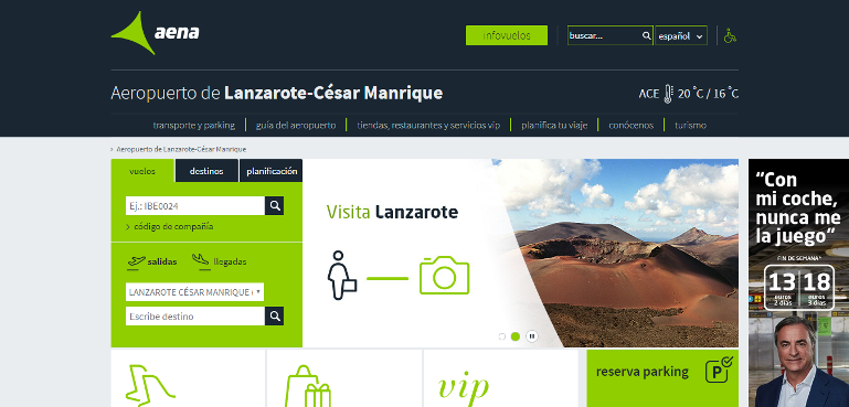 Airport now officially Lanzarote – Cesar Manrique
