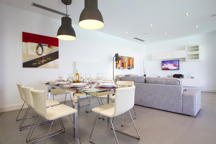Villa LVC196803 Modern open plan lounge diner