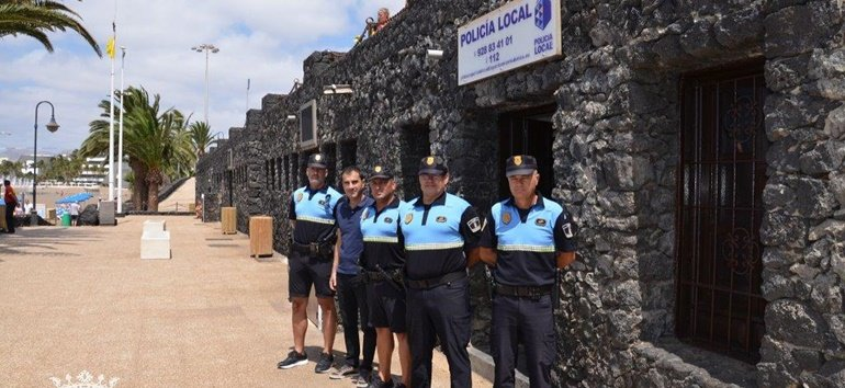 Police Station back  at the beach in Puerto del Carmen
