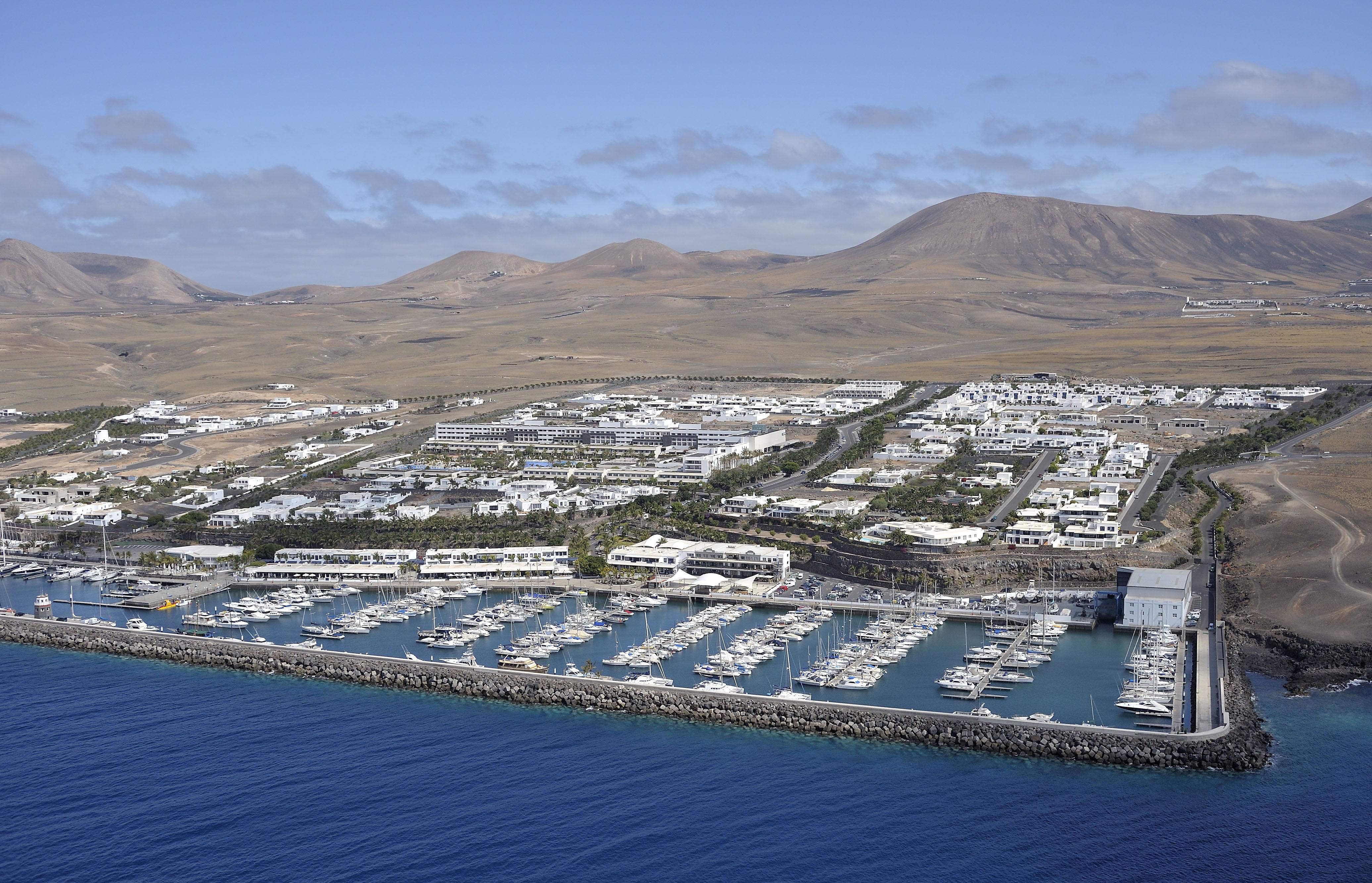 Aerial View of Puerto Calero Marina