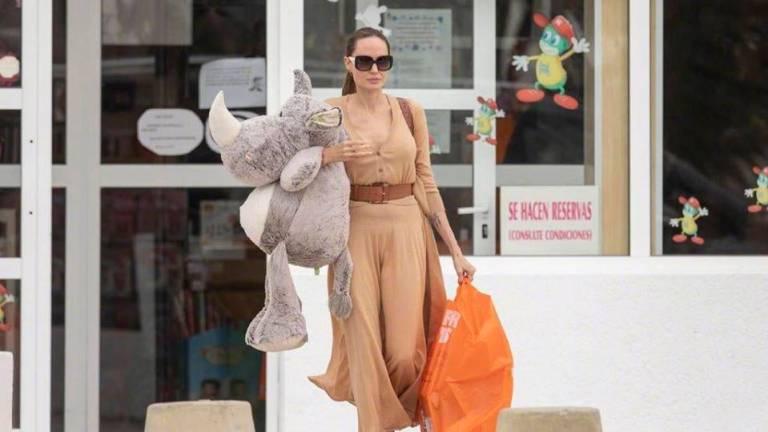 Angelina Jolie in Fuerteventura