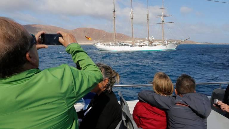 Juan Sebastián de Elcano visits La Graciosa