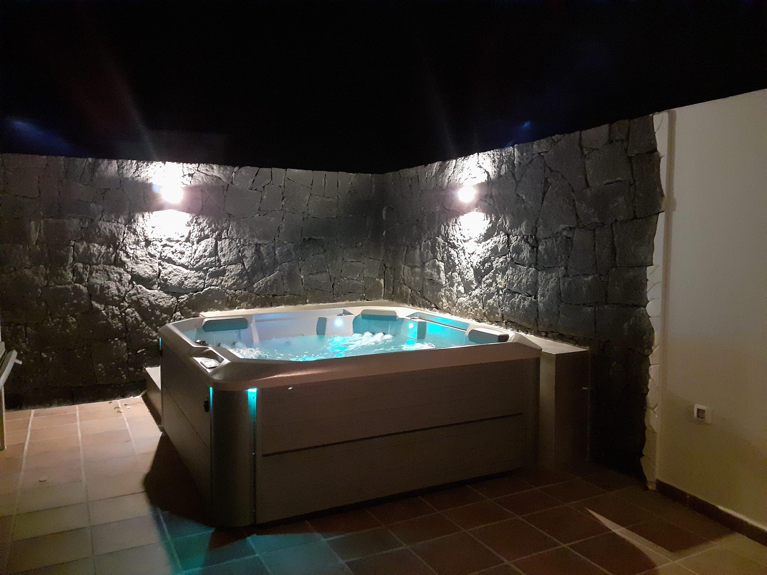 LVC197470 Hot Tub At Night