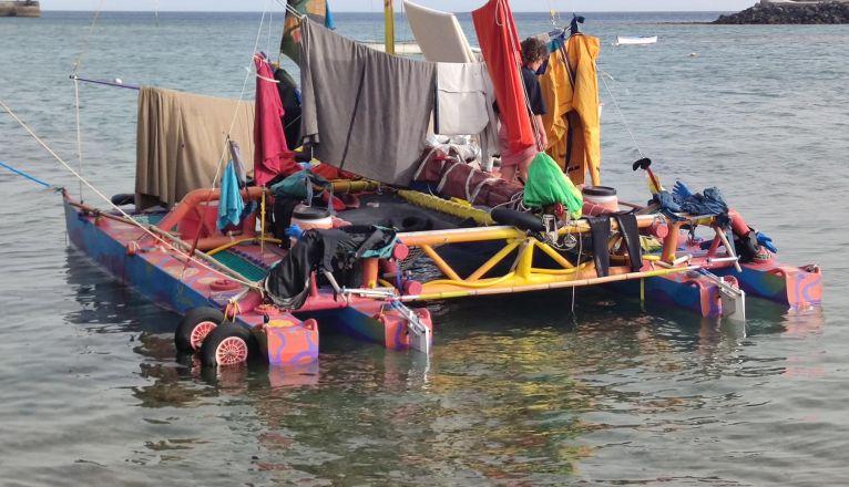Unusual Catamaran Arrives in Lanzarote