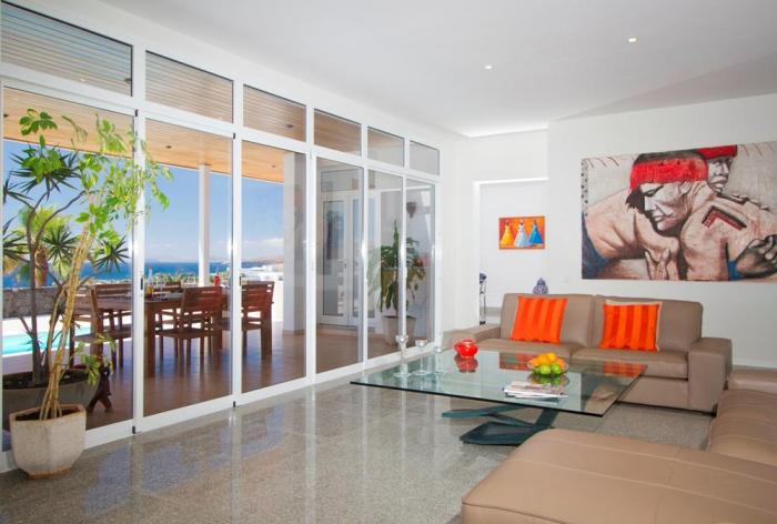 Villa LVC198365 Patio doors from lounge looking out to sea