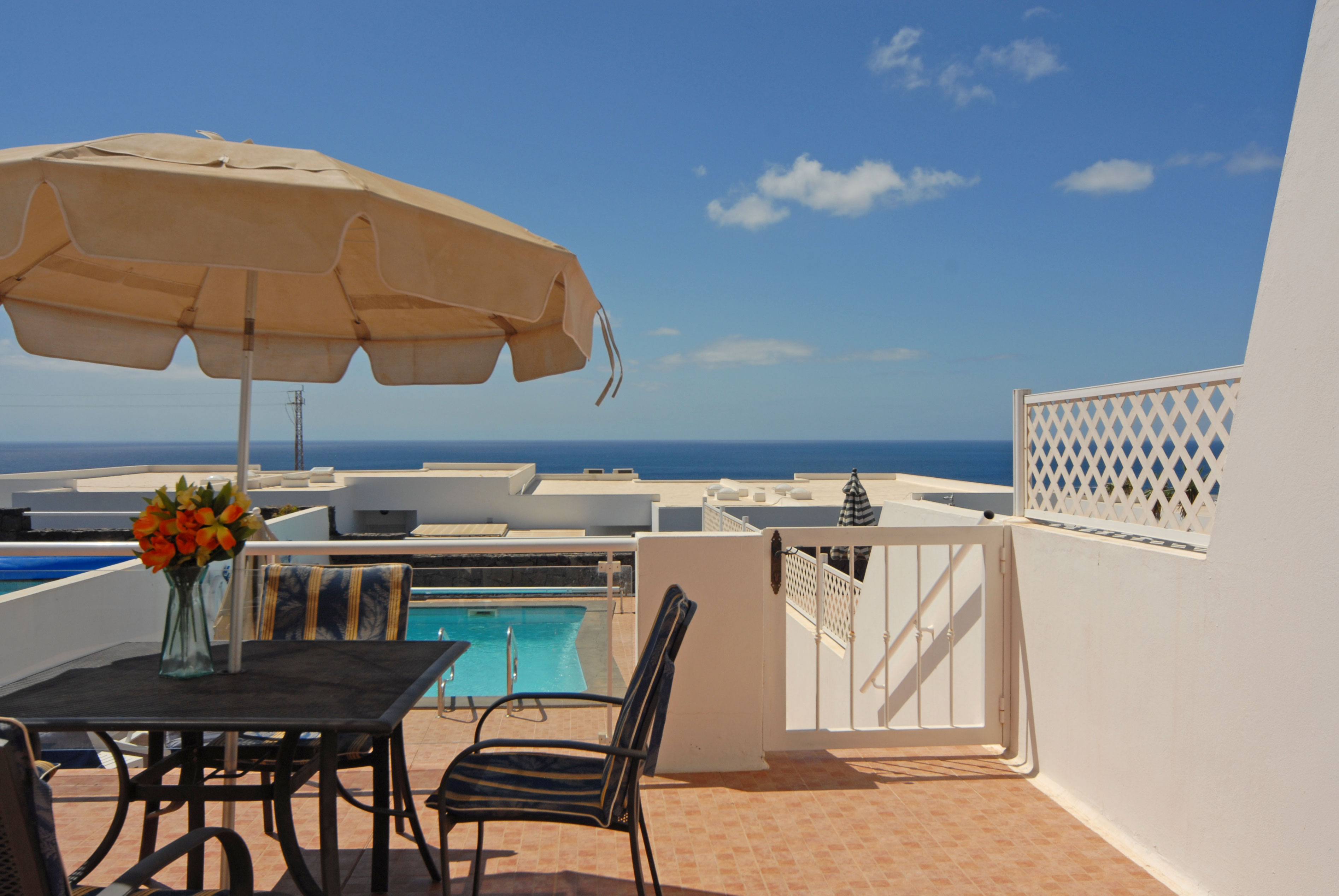 Puerto del Carmen Holiday Villa with views from the terrace