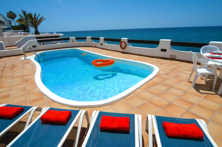 Villa LVC198554 Pool with front line sea views