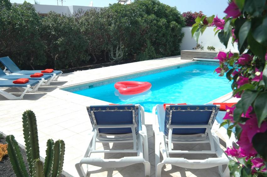 Villa LVC200850 Terrace has patio furniture and sunbeds