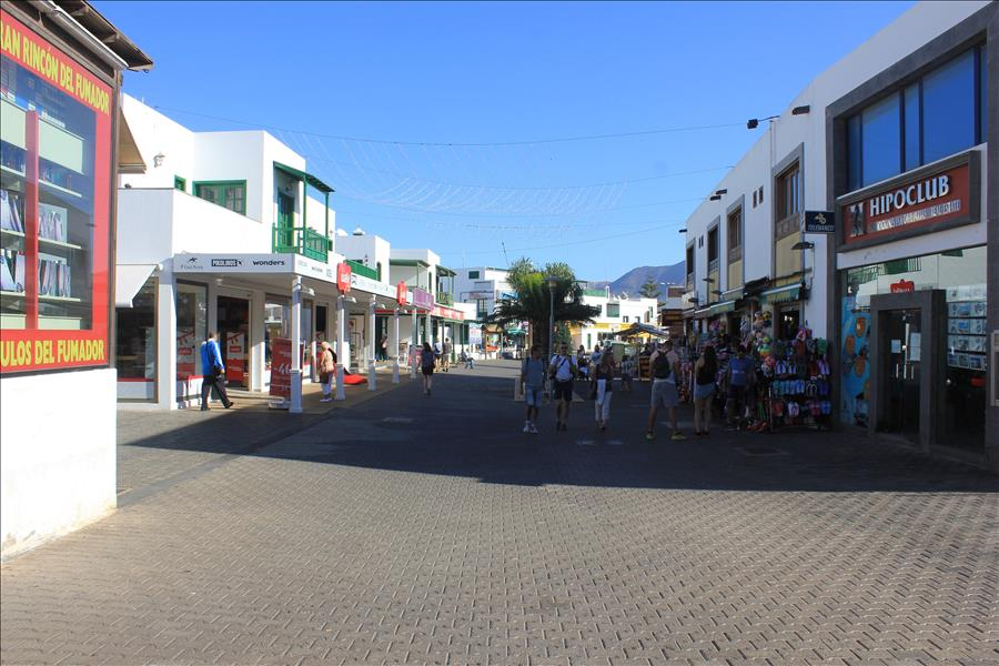Playa Blanca pedestrianized Area