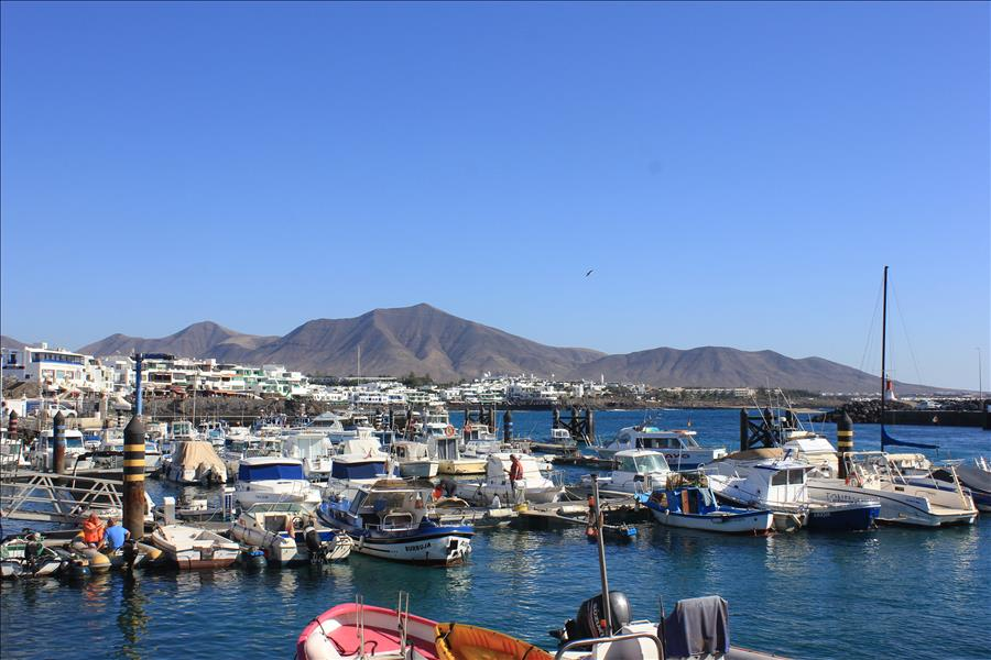 Playa Blanca Ferry Port looking towards Town Centre