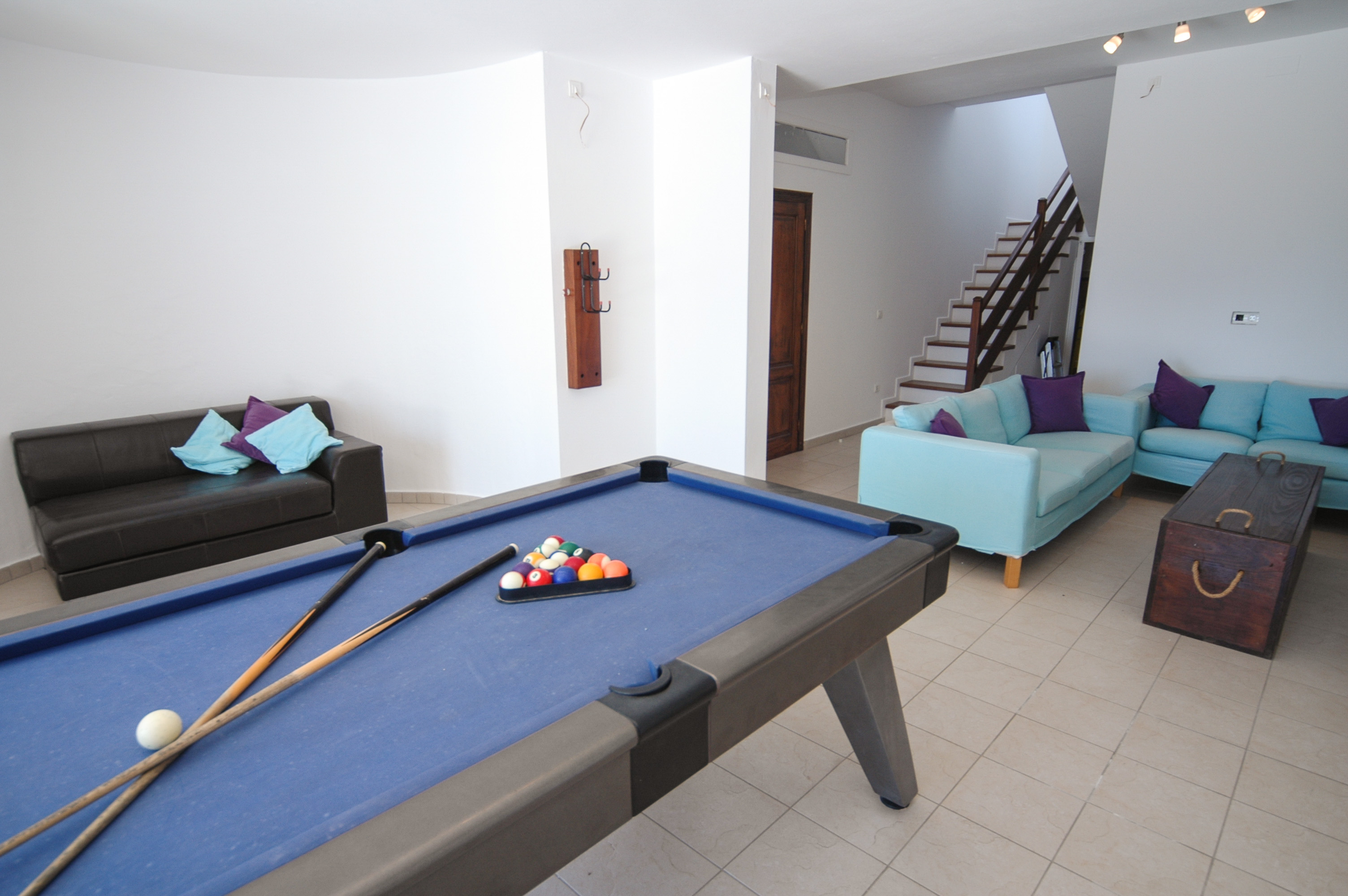 LVC239621 Lower ground floor with TV area and pool table