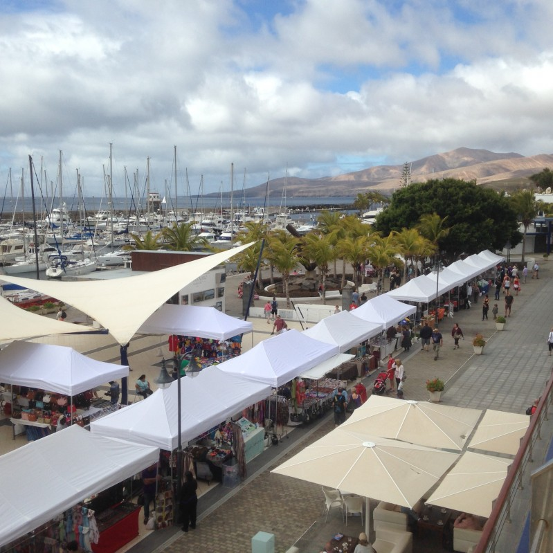 Puerto Calero Marina - market on a Tuesday and Friday morning