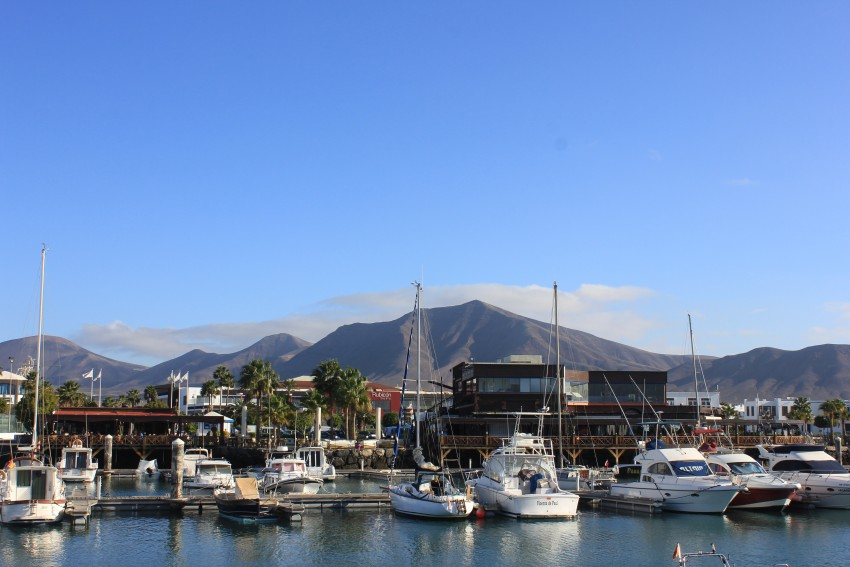 Marina with shops and restaurants