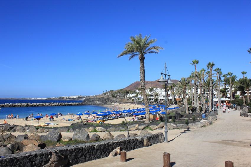 Coastal walkway in Playa Blanca
